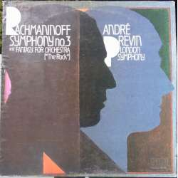 Rachmaninov: Symphony no. 3 + The Rock. Andre Previn, LSO. 1 LP. RCA