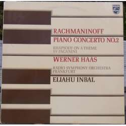 Rachmaninov: Piano concerto no. 2. + Paganini Variationer. Werner Haas, Inbal. 1 LP. Philips 6500920