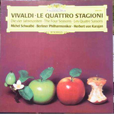 Vivaldi: The Four Seasons. Michel Schwalbe, Herbert von Karajan, Berliner Philharmoniker. 1 LP DG 2530296 A brand new Copy