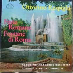 Respighi: Fountains of Rome & Feste Romane. Pedrotti, Czech PO. 1 LP. Supraphon