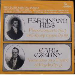 Ries: Piano Concerto no. 3. & Czerny: Variations on a theme by Haydn. Blumenthal. 1 LP. Unicorn