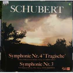 Schubert: Symfoni nr. 3 & 4. Sir Adrian Boult, London Philharmonic Orchestra. 1 LP. SMS