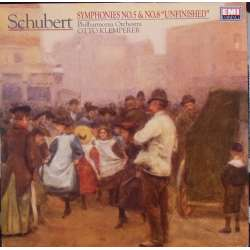 Schubert: Symphonies nos 5 & 8. Otto Klemperer, Philharmonia. 1 LP. EMI. New Copy