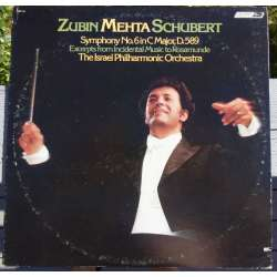 Franz Schubert: Symphony no. 6. Israel PO, Zubin Mehta. 1 LP. London. CS 7115 New copy