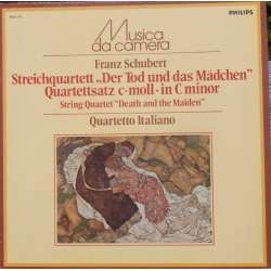 Schubert: String Quartet no. 12 + 14. Quartetto Italiano. 1 LP. Philips. New Copy