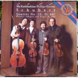 Schubert: String Quartet no. 15. D 887 & Mozart: Adagio. Gidon Kremer, Yo-Yo Ma. 1 LP. CBS. 42134 New Copy