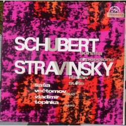 Schubert: Cellosonate. & Stravinsky: Suite Italiana. Vectomov, Topinka. 1 LP. Supraphon