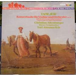 Taneyev: Koncert suite for violin og orkester. Althenburger, Ahronovitch. 1 LP. RCA. Nyt eksemplar