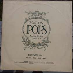 Boston Pops visit London. 1971. Arthur Fielder. Shostakovich & Copland. 1 LP.