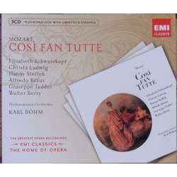 Mozart: Cosi fan tutte. Schwarzkopf, Ludwig. Karl Böhm. 3 CD. EMI. The home of opera