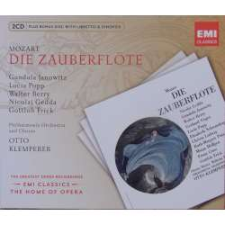 Mozart: Tryllefløjten. Otto Klemperer. Janowitz, Popp, Berry, Gedda. 2 CD. EMI. the Home of opera