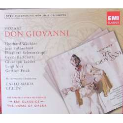 Mozart: Don Giovanni. Giulini, Waechter, Schwarzkopf, Sutherland. 3 CD. EMI. The home of opera