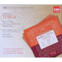 Puccini: Tosca. Maria Callas, Tito Gobbi, di Stefano. Victor de Sabata. 2 CD. EMI. The home of opera