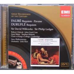 Fauré: Requiem. Willcocks & Duruflé: Requiem. Ledger. 1 CD. EMI. GRC