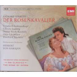 Strauss: Der Rosenkavalier. Schwarzkopf, Ludwig. Karajan. 3 CD. EMI. The home of opera