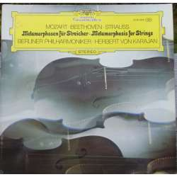 Metamorphosen for Strygere. Beethoven, Mozart, R. Strauss. Karajan, Berlin PO. 1 LP. DG