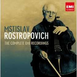 Rostropovich spiller 21 korte værker for cello (+ klaver). 1 CD. EMI