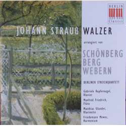 J. Strauss: Waltzer for String Quartet. Berliner Streichquartett. 1 CD Berlin Classics. New Copy
