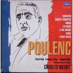 Poulenc: Concertos, Orchestral works, Gloria, Stabat Mater. Charles Dutoit. 5 CD. Decca