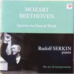 Beethoven & Mozart: Quintet for piano & winds. Rudolf Serkin. 1 CD. Sony