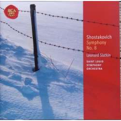 Shostakovich: Symfoni nr. 8. Felix Slatkin, St. Louis SO. 1 CD. RCA