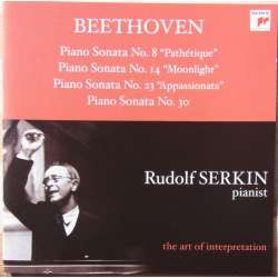 Beethoven: Klaversonate nr. 8, 14, 23, 30. Måneskin, Pathetique, Appasionata. Rudolf Serkin. 1 CD. Sony