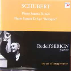 Schubert: Klaversonate nr. 15 & 21 Rudolf Serkin. 1 CD. Sony