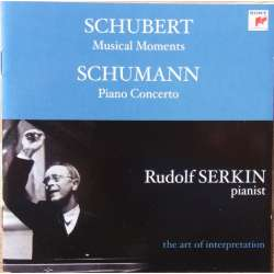 Schubert: Musical Moments D 780. & Schumann: Klaverkoncert. Rudolf Serkin. 1 CD. Sony