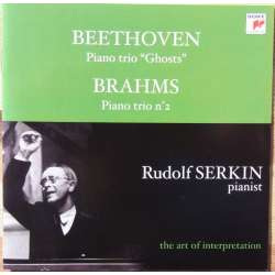 Beethoven: Piano trio no. 4. & Brahms: piano trio no. 2. Rudolf Serkin. Hermann Busch, Adolf Busch. 1 CD. Sony