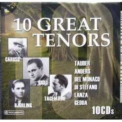 10 Great tenors. Gigli, Caruso, Tauber, Björling, Gedda. 10 CD.