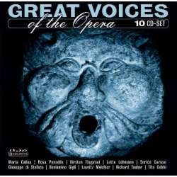 Great Voices of the Opera. Flagstad, Caruso, Gobbi, Gigli, di Stefano. 10 CD. Membran