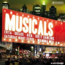 Musicals. Evita, Mamma Mia, Grease, oma. 10 CD.