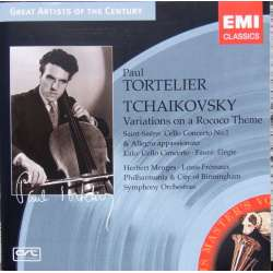 Tchaikovsky: Variations on a Rococo Theme. & Saint Saens: Cello Concerto. Paul Tortelier, Herbert Menges. 1 CD. EMI.