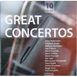 Great Concertos. Beethoven, Brahms, Dvorak, Mozart, Tchaikovsky. 10 CD. Box set