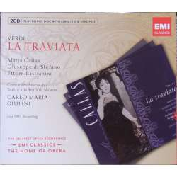 Verdi: La Traviata. Maria Callas, di Stefano, Giulini. 2 CD. EMI. The home of opera