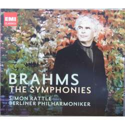 Brahms: Symfoni nr. 1-4. Simon Rattle. Berliner SO. 3 CD. EMI