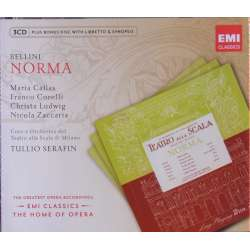 Bellini: Norma. Maria Callas, Corelli, Ludwig. Serafin. 3 CD. EMI. The home of opera