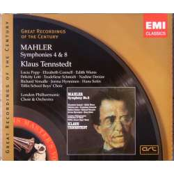 Mahler: Symfoni nr. 4 & 8. London PO. Klaus Tennstedt. 2 CD. EMI. GRC