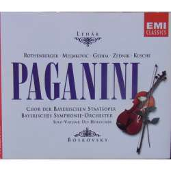 Lehar: Paganini. Rothenberger, Gedda, Lenz. Willi Boskovsky. 2 cd. EMI
