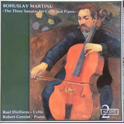 Martinu: Sonater for cello og klaver. Dieltiens, Groslot. 1 CD. Accent