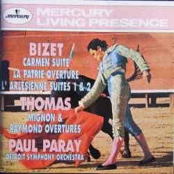Bizet: Carmen suite. + Le Arlesienne suites 1 & 2. Detriot SO. Paul Paray. 1 CD. Mercury