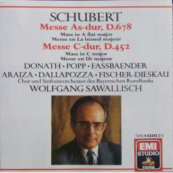 Schubert: Messe i As-dur. + Messe i C-dur. W. Sawallisch. 1 CD. EMI