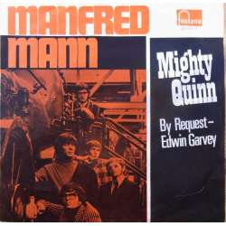 Manfred Mann: Mighty Queen. + By Request - Edwin Garvey. 1 Single vinyl. Fontana.