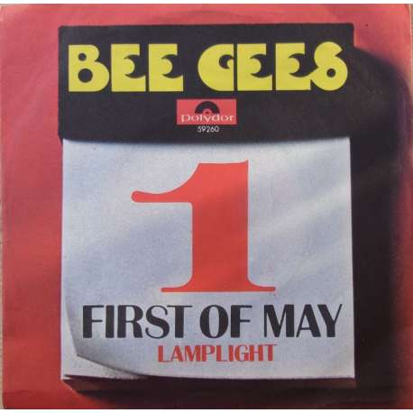 The Bee Gees First Of May Lamplight Single Vinyl Plade