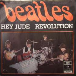 The Beatles: Hey Jude. + Revolution. 1 Single. EMI