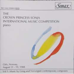 The Crown Princess Sonja, international music piano competition. 1 CD. Simax
