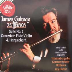 Bach: Koncert for fløjte, violin og cembalo. James Galway. 1 CD. RCA