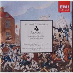 Arnold: Symfoni nr. 2 & 5. Charles Groves. Bournemouth SO. 1 CD. EMI