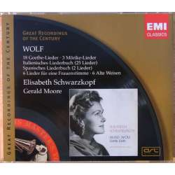 Hugo Wolf: Lieder. Elisabeth Schwarzkopf, Gerald Moore. 2 CD. EMI. Great Recordings og the Century