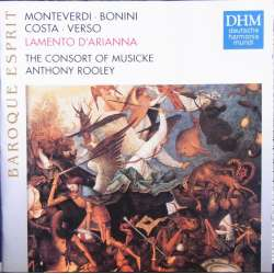 Monteverdi, & Bonini. & Costa. & Verso. The Consort of Musicke. Anthony Rooley. 1 CD. DHM